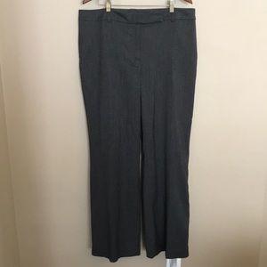 Ann Taylor Dress Pants 16 Curvy Charcoal
